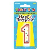 96 Units of B'day candle #1 - Birthday Candles