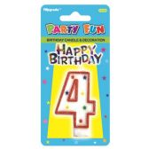 96 Units of B'day candle #4 - Birthday Candles