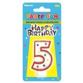96 Units of B'day candle #5 - Birthday Candles