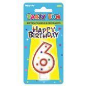 96 Units of B'day candle #6 - Birthday Candles