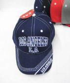 "36 Units of ""Los Angeles"" Kids Cap Assorted Colors - Kids Baseball Caps"