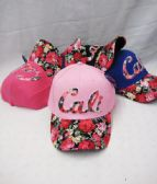 "48 Units of ""California "" Floral Ball Cap - Kids Baseball Caps"