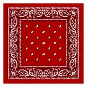 36 Units of BANDANA 111 COTTON RED - Bandanas