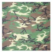36 Units of BANDANA 114 COTTON CAMOUFLAGE - Bandanas