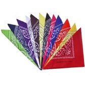 36 Units of BANDANA 115 COTTON MIX COLORS - Bandanas