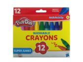 72 Units of Play-Doh Super Jumbo Washable Crayons Set - Classroom Learning Aids