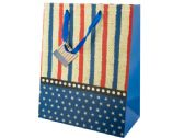 72 Units of Large Stars & Stripes Gift Bag - Gift Bags