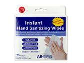 72 Units of Instant Hand Sanitizing Wipes - Personal Care Items