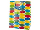 144 Units of Large Multi-Colored Dots Gift Bag - Gift Bags