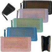 36 Units of Women's wristlet wallet in faux leather In Jade - Leather Wallets