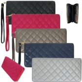 36 Units of Women's wristlet wallet crafted in a fashion forward quilted faux leather Isaabella - Leather Wallets