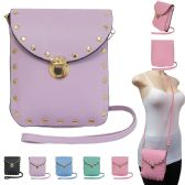 36 Units of Studded cross body bag with buckle closure perfect for cell phones. - Leather Purse and Handbags
