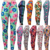 "60 Units of ""Soft Feel"" full length floral design leggings in assorted prints. - Womens Leggings"