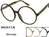 48 Units of Large Trendy Round Over Size Eye Glass Frames Assorted - Reading Glasses