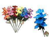 144 Units of 9 Head Flower Bouquet 6 Asst Colors - Floral/Branches