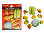 96 Units of 10 Pc Fruit Magnets Assorted Sizes & Designs