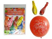 "96 Units of 10 Pc Happy B-Day Balloons Size: 12"", 2.8g Each - Balloons/Balloon Holder"