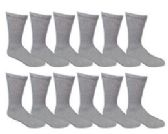240 Units of Men's Lanthra Gray Cotton Crew Sock Size 10-13 - Mens Crew Socks - Mens Crew Socks