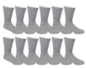 240 Units of Mens Ringspun Cotton Ultra Soft Crew Sock Size 10-13 Gray - Mens Crew Socks