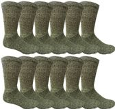 240 Units of Mens Ringspun Cotton Ultra Soft Crew Sock Size 10-13 Marled Black - Mens Crew Socks