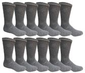240 Units of Men's Dark Gray Cotton Crew Sock Size 10-13 - Mens Crew Socks