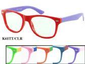 48 Units of Kids Plastic Eye Glasses Two Tone Assorted - Eye Glass/Sun glass Case