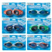 96 Units of Adult Swimming Goggles in Assorted Colors - Summer Toys