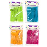 96 Units of 45ct Mixed Plastic Cutlery in 4asst Summer Colors Summer Pb - Plastic Serving Ware