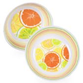 36 Units of 10in Melamine Citrus Serving Bowl in 2ast Pattern w/Upc Label - Plastic Bowls and Plates