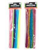 48 Units of Chenille Stems Pastels - Craft Stems