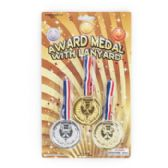 48 Units of 3 Pack Award Medal - Magic & Joke Toys