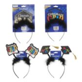 48 Units of 4asst Graduation Headband W/feather Trim - Graduation