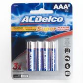48 Units of 8pk AAA Alkaline Batteries Ac Delco Carded - Batteries