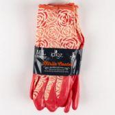 72 Units of 3 pair Womens Nitrile Knit Garden Gloves M/L - Gardening Gloves