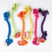 96 Units of Dog Toy Rope Chew 6 Assorted Colors & Styles In Pdq - Pet Toys