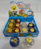72 Units of L/U Flashing Glitter Bouncing Ball [Duckies] - Summer Toys