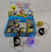 72 Units of L/U Flashing Glitter Bouncing Ball [Assortment] *Wrist Strap