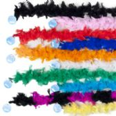 120 Units of Boa Maribu Feather 48in Long 10asst Colors Ht - Party Misc.
