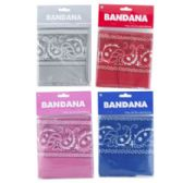48 Units of Bandana 19.5in 4ast Colors Matching Artwork Pbh - Bandanas