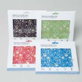 96 Units of 6x7in Printed Microfiber Cleaning Cloth /4 Colors - Cleaning