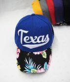 "24 Units of ""Texas"" Floral Ball Cap - Baseball Caps & Snap Backs"