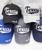 "36 Units of ""Texas ""Printed Logo Cap - Baseball Caps & Snap Backs"