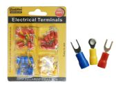 144 Units of 40PC ELECTRICAL TERMINALS in 3 Asst Colors - ELECTRICAL