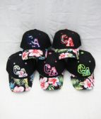 "36 Units of ""California"" Floral Printed Logo Cap - Baseball Caps & Snap Backs"