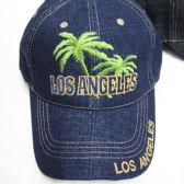 "36 Units of ""Los Angeles"" Palm Tree Logo Cap - Baseball Caps & Snap Backs"