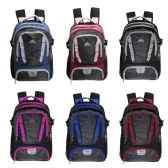 "24 Units of 18"" Wholesale Backpack with Laptop Sleeve in 6 Assorted Color Variations - Backpacks 18"" or Larger"