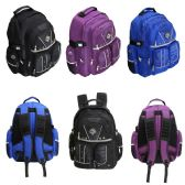 "24 Units of 18"" Padded Backpack in 3 Assorted Colors - Backpacks 18"" or Larger"