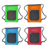 "24 Units of Drawstring Bags in 4 Assorted Colors - Backpacks 15"" or Less"