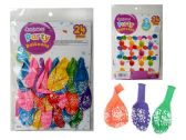 144 Units of 24 PC Happy B-Day Balloons - Balloons & Balloon Holder