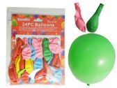 144 Units of 24 PC Party Balloons, Asst Colors - Balloons & Balloon Holder